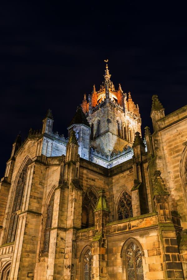 St Giles Cathedral i Edinburg arkivfoto