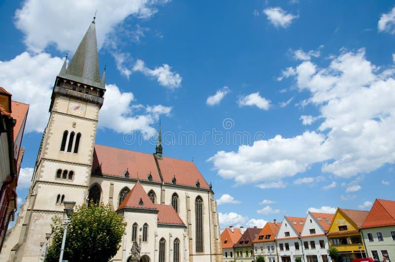 St Giles Church - Bardejov - Eslovaquia imagen de archivo
