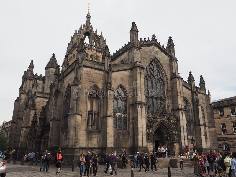 St Giles katedra w Edynburg zdjęcie stock