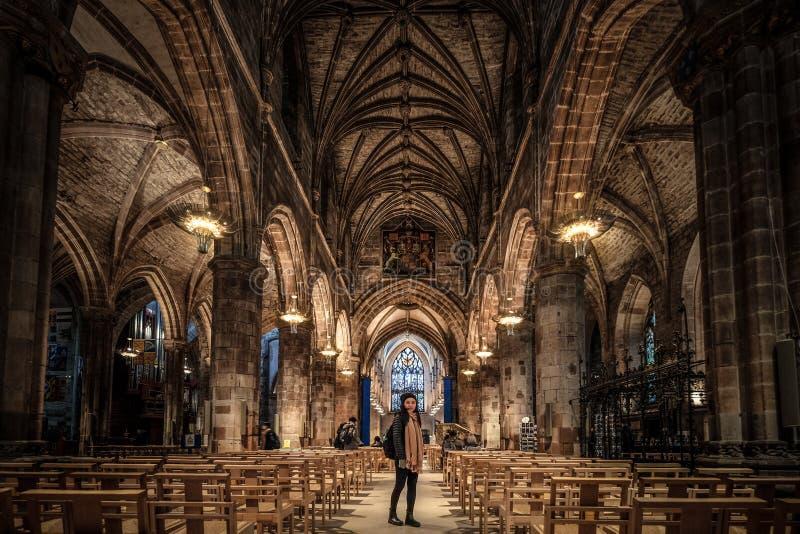 St Giles Kathedrale, Edinburgh, Vereinigtes Königreich stockfotografie