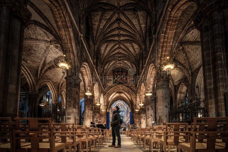 St Giles Kathedrale, Edinburgh, Vereinigtes Königreich stockbilder