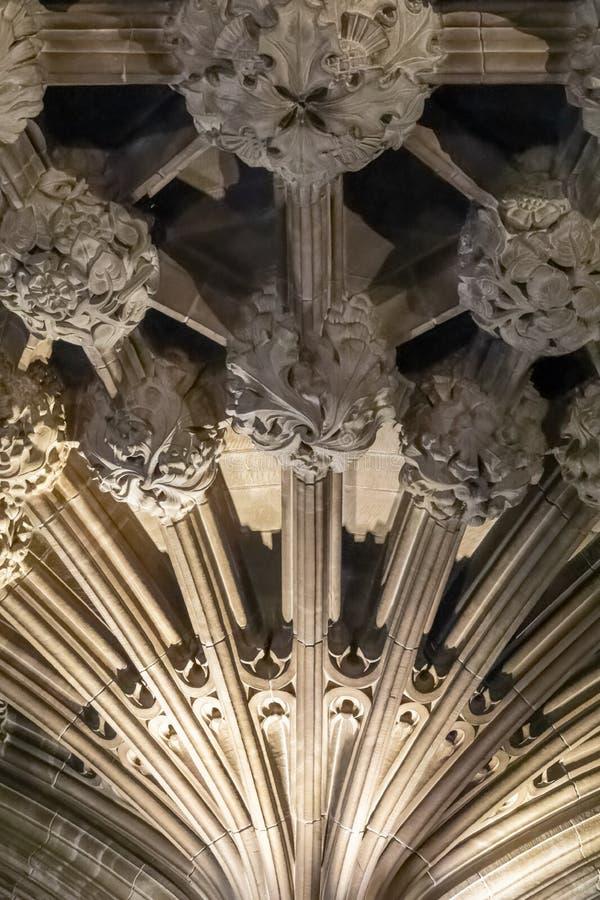 St Giles osetu sufitu szczegół zdjęcie royalty free