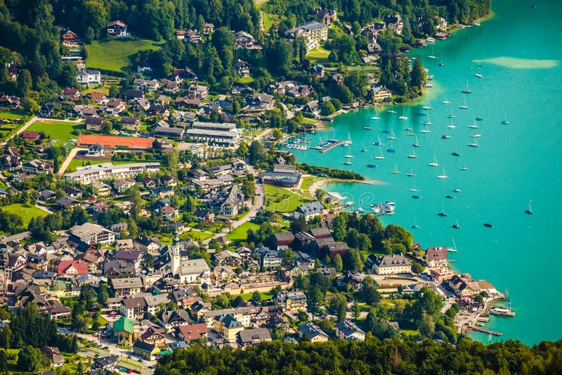 St Gilgen和沃尔夫冈湖-萨尔茨卡默古特,奥地利 库存图片