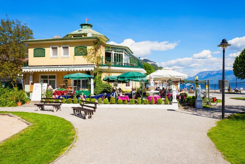 St Gilgen在奥地利 库存照片