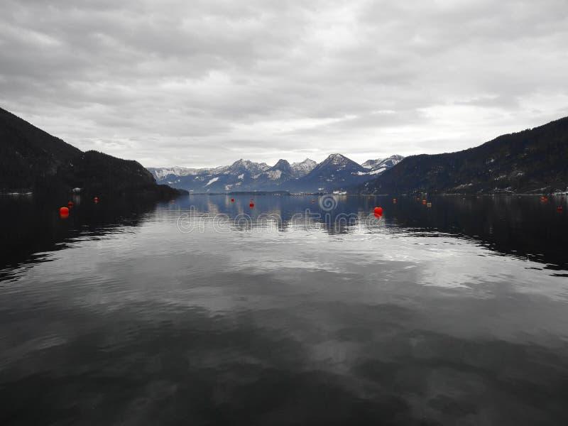 St Gilgen奥地利Beautifull湖 库存照片