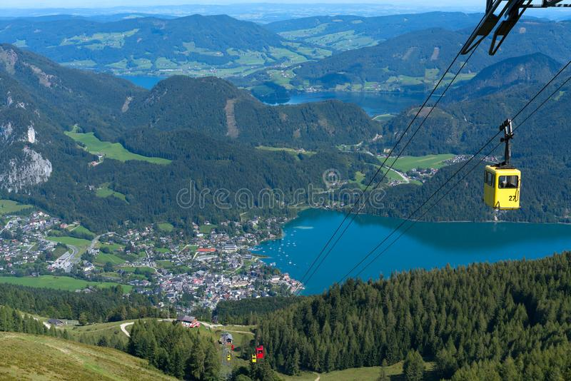 ST GILGEN, SALZBURG/AUSTRIA - SEPTEMBER 15 : Zwölferhorn Mount stock photos