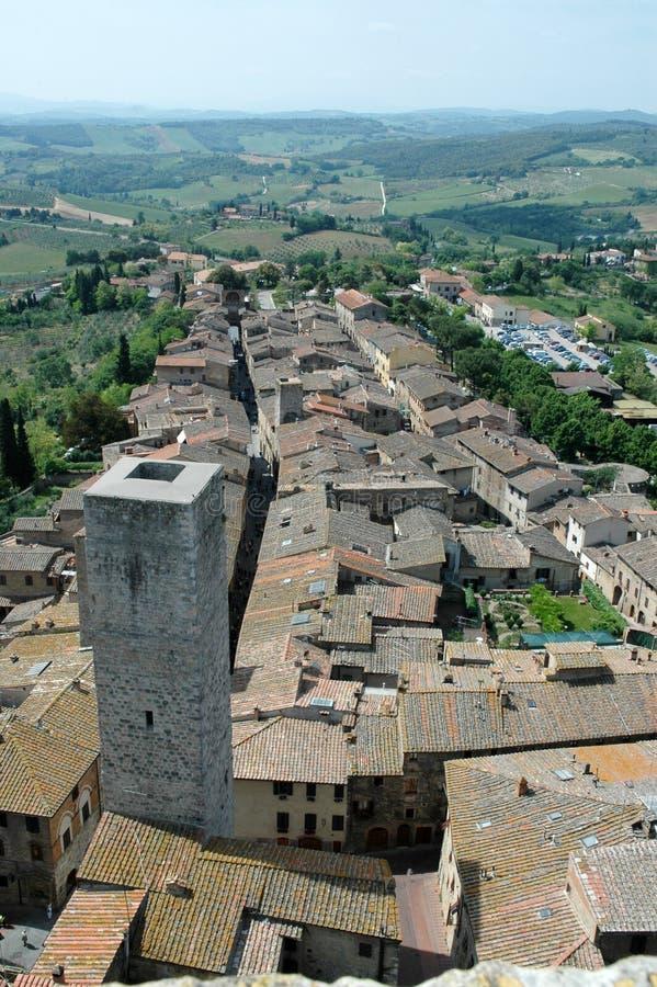 St. Gimignano - Tuscany italy. St. Gimignano country - Tuscany italy - view of roofs royalty free stock photos