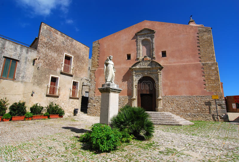 St. Giuliano church in Erice (Sicily) royalty free stock photos