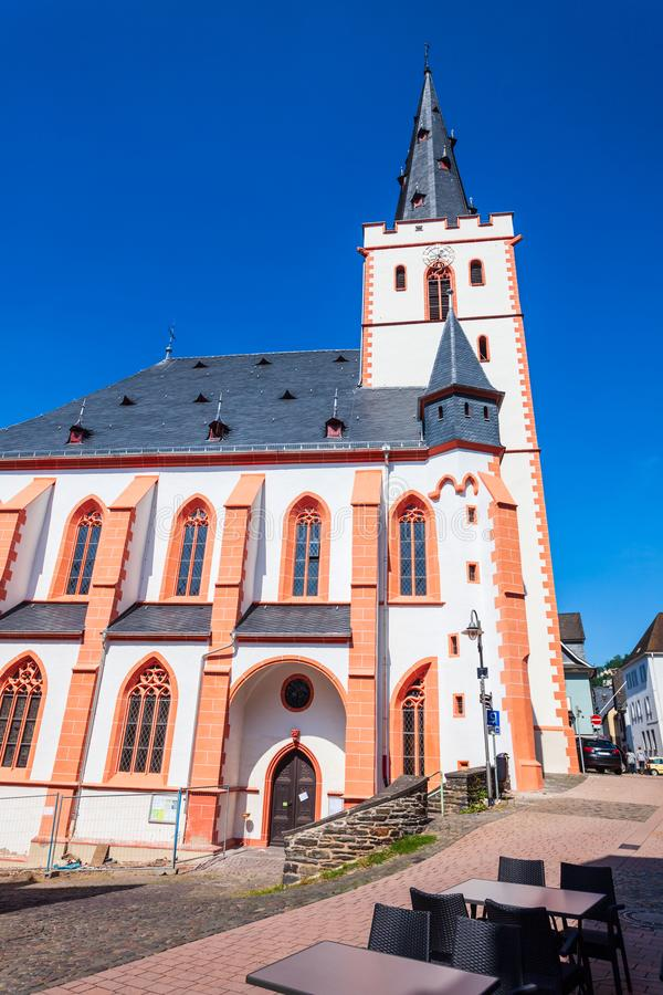 St Goar Stiftskirche Collegiate Church fotografia de stock royalty free