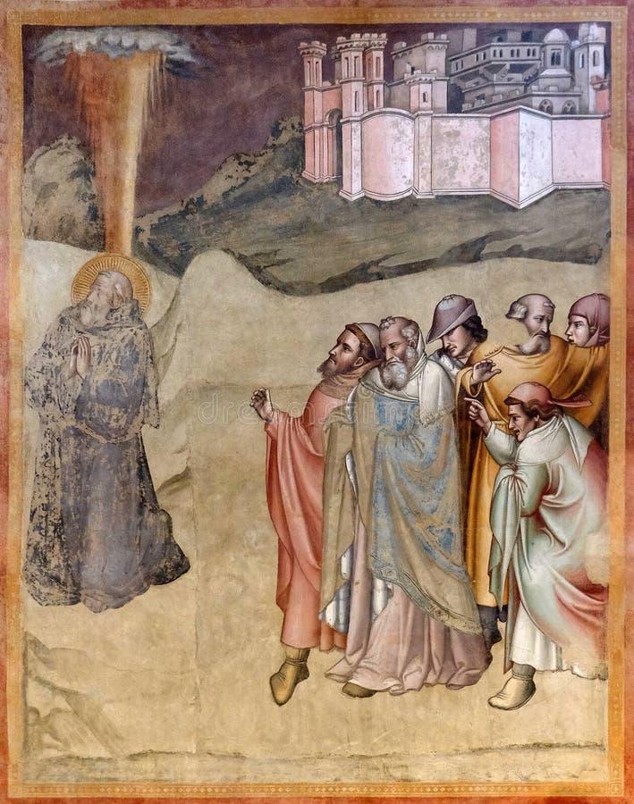 St Gregory die door de mensen voor verkiezing als hogepriester, Santa Maria Novella-kerk in Florence vinden royalty-vrije stock afbeelding