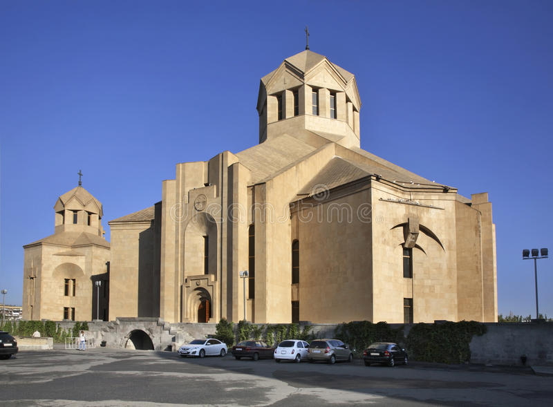 St Gregory el iluminador Cathedral en Ereván armenia imagen de archivo libre de regalías