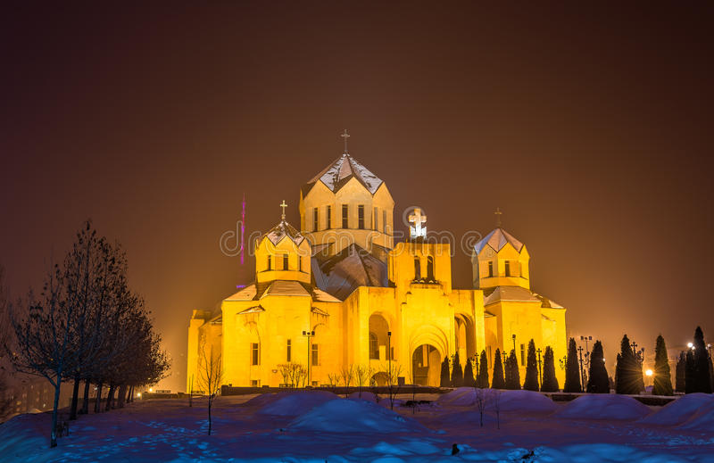 St Gregory Illuminator cathedal in Yerevan royalty-vrije stock afbeeldingen