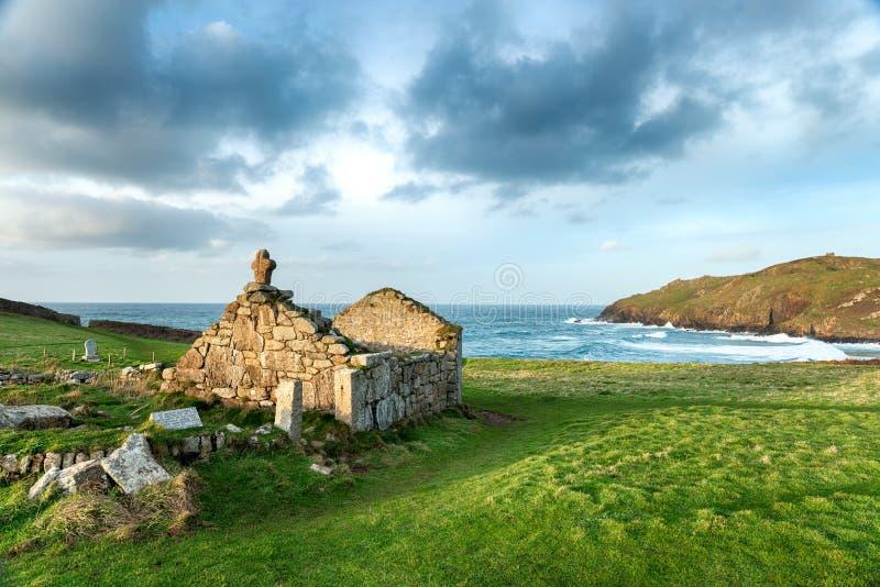St Helen krasomówstwo na przylądku Cornwall zdjęcie stock