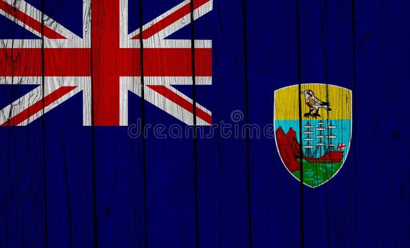 St. Helena-Flagge über Holzplanks stockbilder