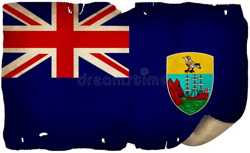 St.-Helena-Flagge für altes Papier lizenzfreies stockbild