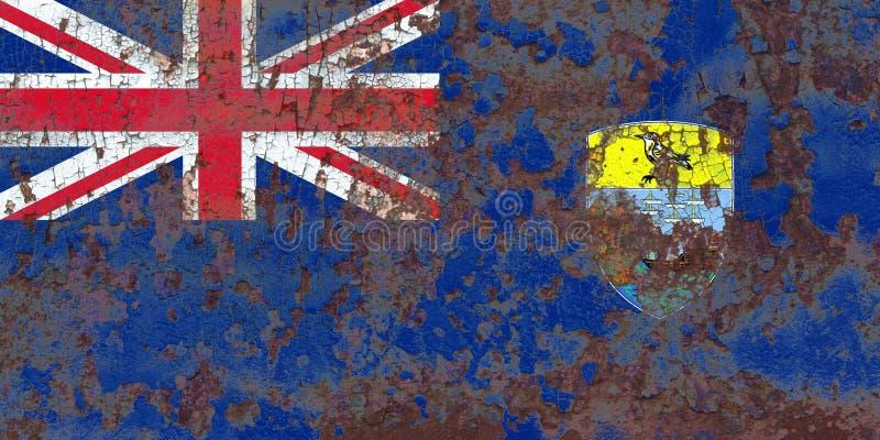 St Helena grungeflagga, brittiska utländska territorier, Britannien royaltyfria bilder