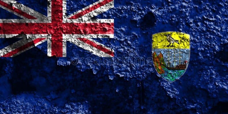 St Helena grungeflagga, brittiska utländska territorier, Britannien arkivbilder