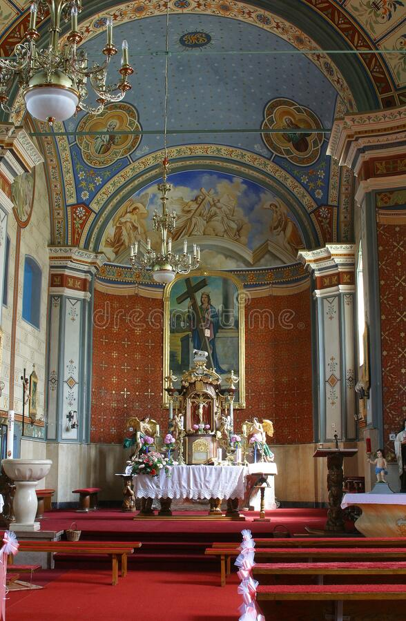 St. Helena Church in Zabok, Croatia. St. Helena Parish Church in Zabok, Croatia royalty free stock images