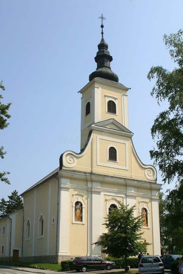 St. Helena Church in Zabok, Croatia. St. Helena Parish Church in Zabok, Croatia royalty free stock photography
