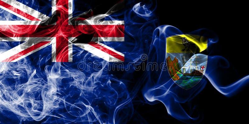 St Helena rökflagga, beroende territorium flagga för brittiska utländska territorier, Britannien stock illustrationer