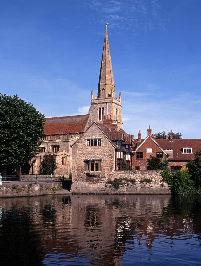 St Helens Church, Abingdon, England. River Thames and Saint Helens Church, Abingdon, Oxfordshire, England, United Kingdom, Western Europe stock photos