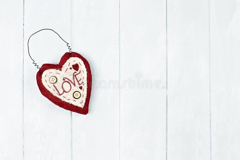 St het hart van de valentijnskaart stock afbeeldingen