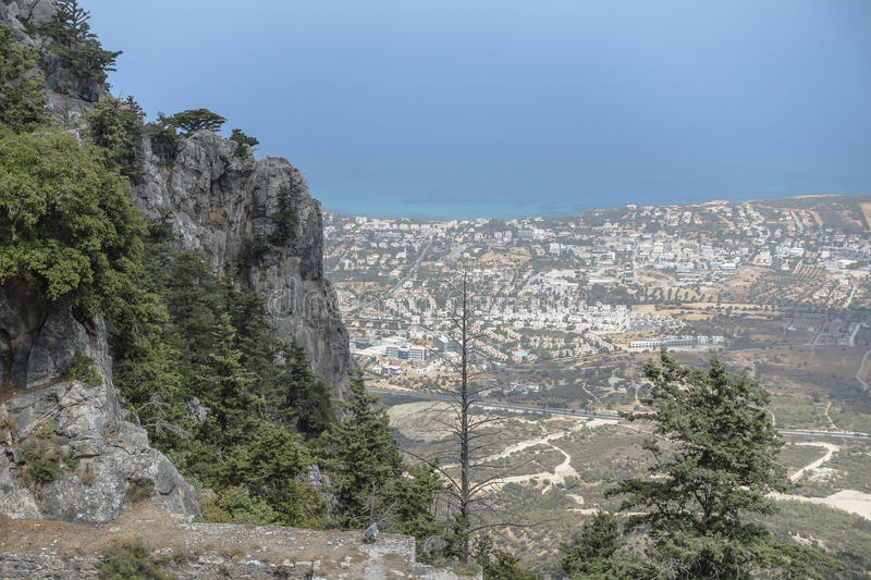 St Hilarion Castle dans Kyrenia, photo stock