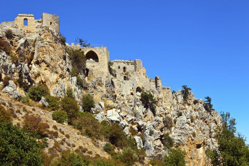 St Hilarion Castle dans Kyrenia, Chypre du nord. photographie stock libre de droits