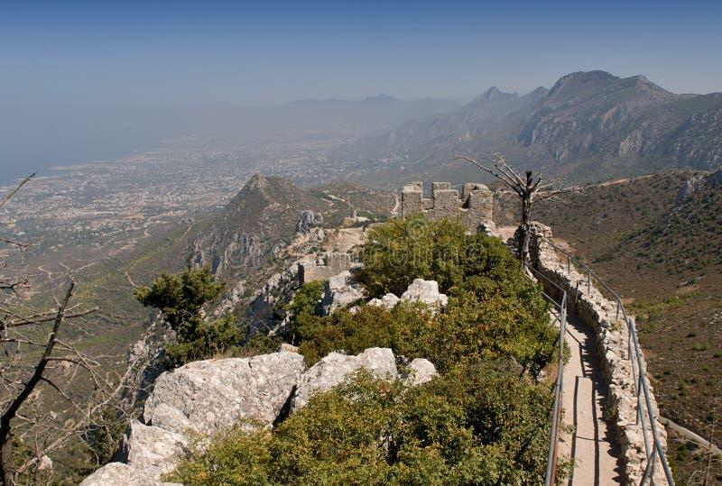 St Hilarion Fortress image libre de droits