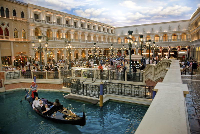 St Hotel veneziano quadrato del contrassegno fotografie stock