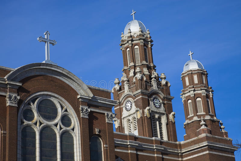 St Hyacinth Basilica in Chicago stock images
