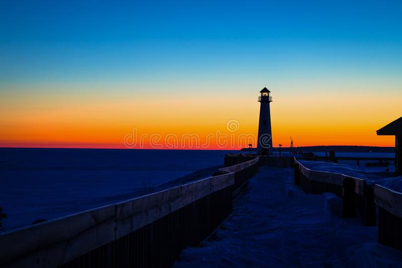 St. Ignace Sunrise royaltyfri foto