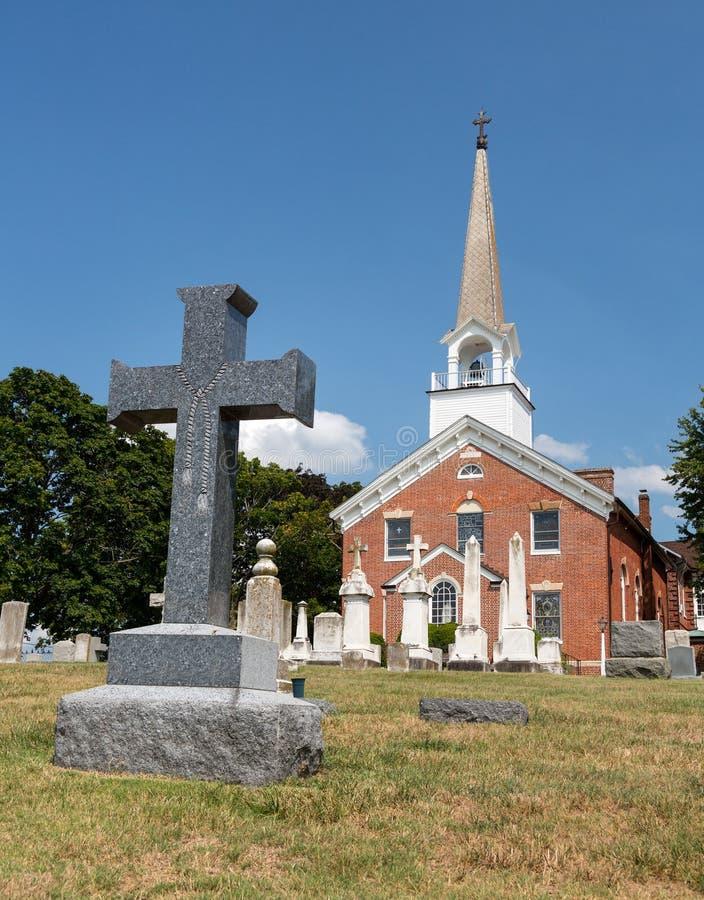 St Ignatius教会教堂点马里兰 库存图片