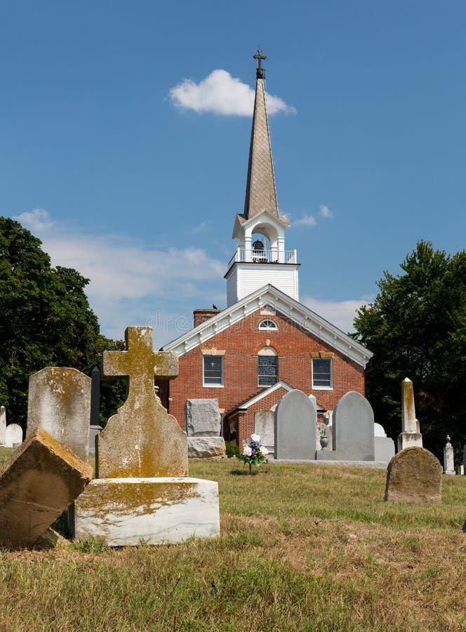 St Ignatius church Chapel Point Maryland stock photo