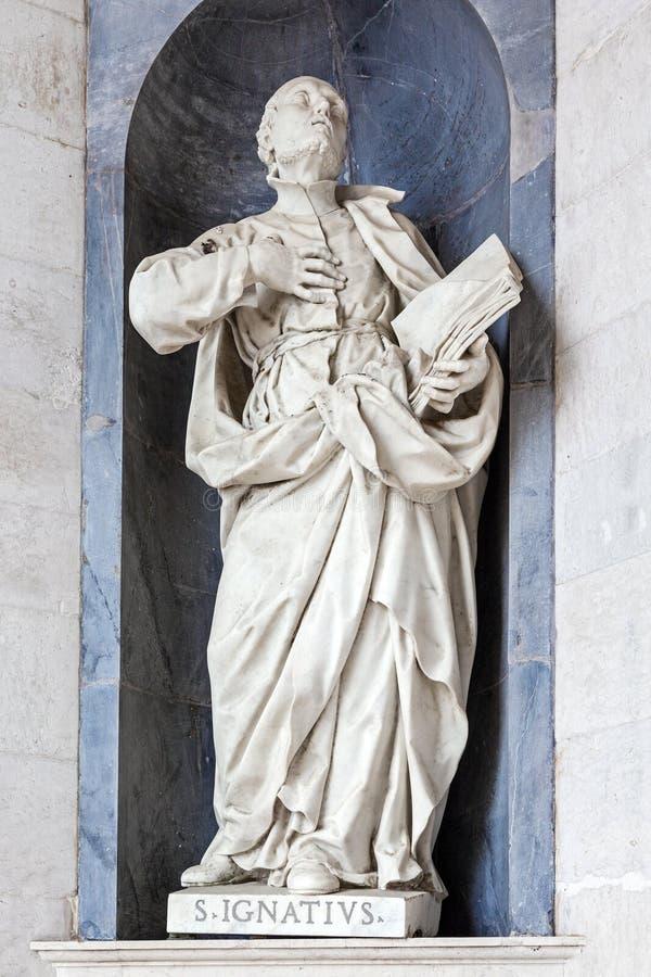St Ignatius della scultura di Loyola Italian Baroque fotografia stock libera da diritti