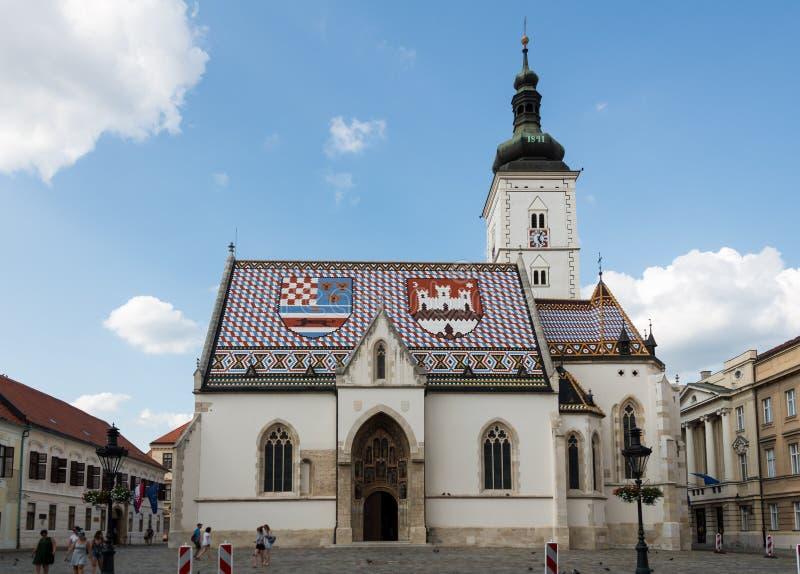 St Igreja da marca em Zagreb, Croatia foto de stock