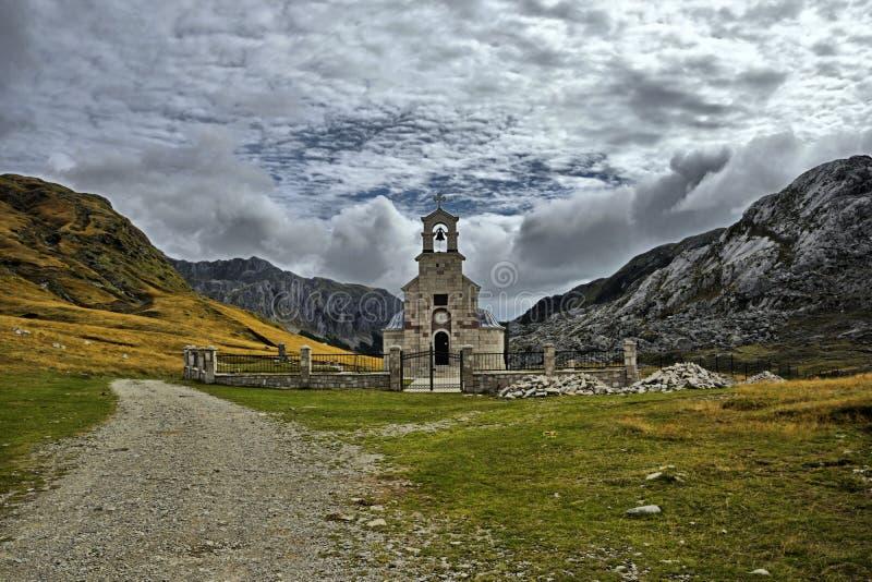St. Ilya Church Montenegro. Montenegro. Kapetanovo Lake surprises all its visitors with its incredible beauty. The Kapetanovo Lake is located at an altitude of stock photos