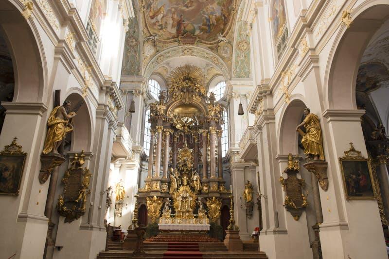 St. interno Peters Church Munich fotos de stock royalty free