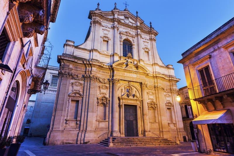 St Irene Church i Lecce royaltyfria foton