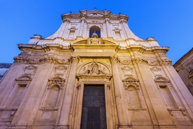 St Irene Church in Lecce. Lecce, Apulia, Italy royalty free stock photos