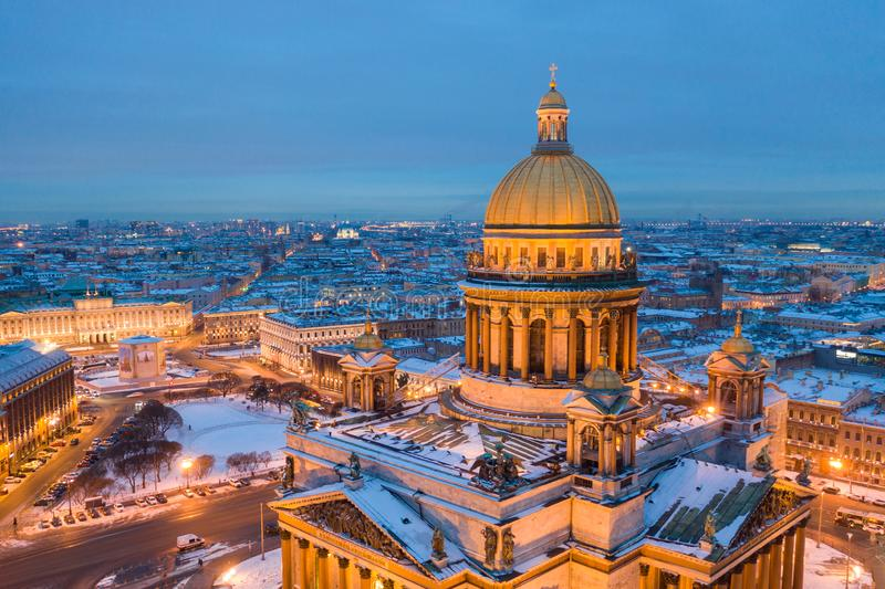 St Isaac cathedral in Saint Petersburg, Russia, is the biggest christian orthodox church in the world royalty free stock images