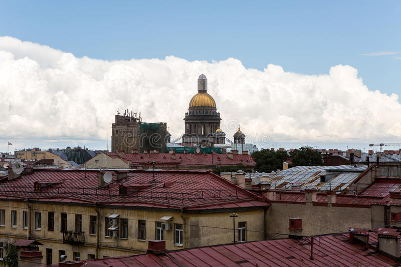 St. Isaac Cathedral in Saint-Petersburg, Russia. Sityscape royalty free stock images