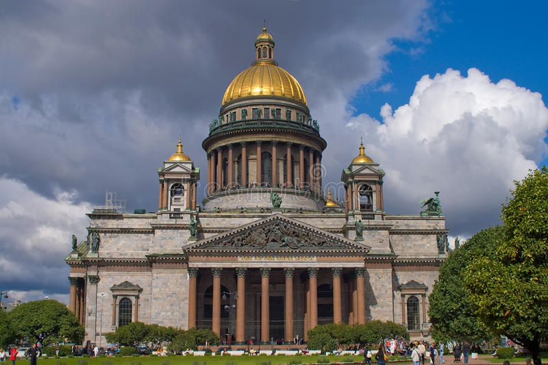 St.Isaac Cathedral in St.Petersburg, Russia stock photography
