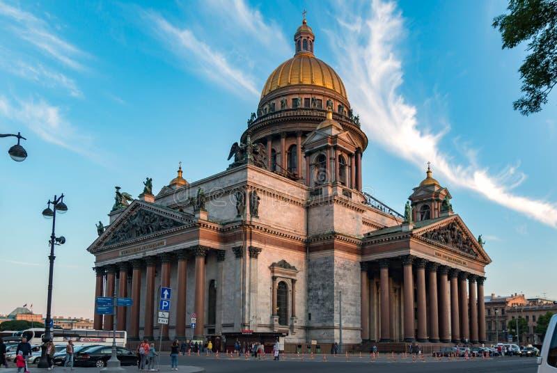 St Isaac Cathedral, ville de St Petersburg, Russie Vue d'été photo stock