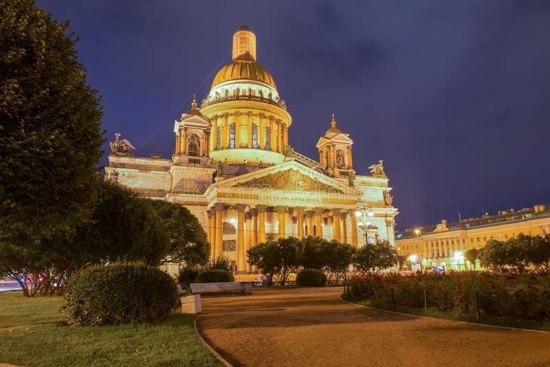 St Isaac katedra na Isaac kwadracie zdjęcia royalty free