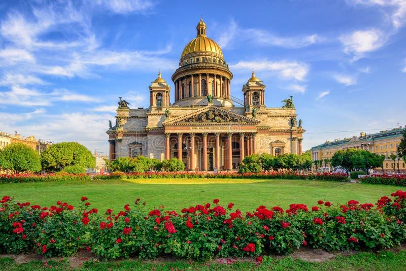 St Isaac kathedraal, Heilige Petersburg, Rusland royalty-vrije stock foto's