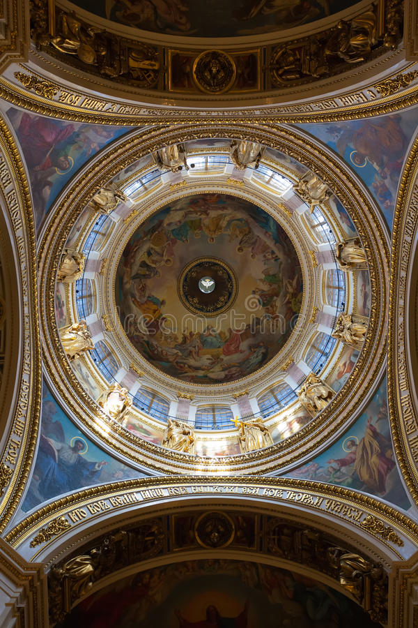 St. Isaac S Cathedral, The Ceiling Stock Image