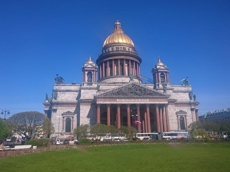 St. Isaac& x27;s Cathedral in St. Petersburg, Russia, clear day stock images