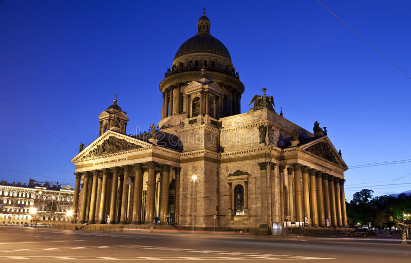 St. Isaac's Cathedral in St Petersburg stock images
