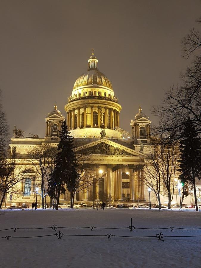 St Isaac ` s katedra w St Petersburg Zima 2019 fotografia royalty free